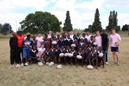 The Independent Schools Barbarians led a coaching session at the Mbare Academy