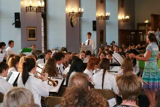 The Senior Concert Band perform