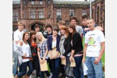 Pupils celebrate outstanding GCSE results in August 2008