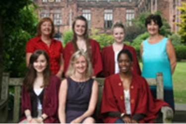 Sixth Form Girls with Mrs Carol Bond