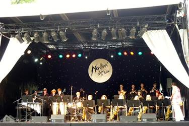 The Jazz Band on the Music in the Park Stage at Parc Vertex