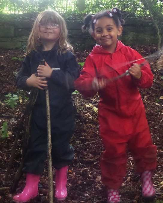 The children really enjoyed their forest school session