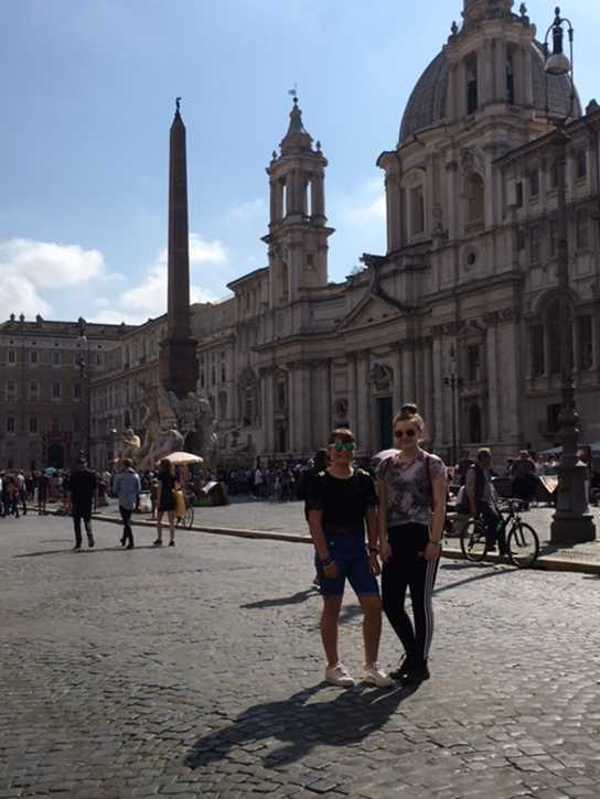 Students enjoying the Classics visit to Rome
