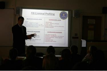 John spoke to the girls about FBI Criminal Profiling