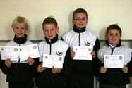 The boys swim relay team progress to the national primary school finals