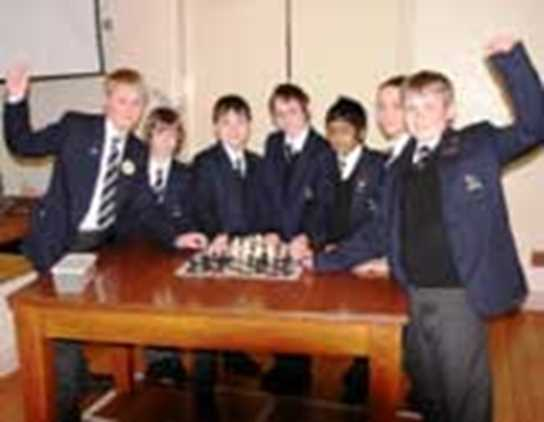 The boys' chess team has reached the quarter final of the national chess championship