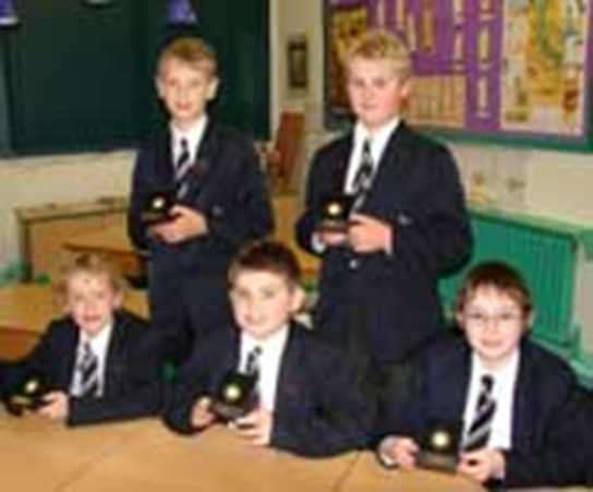 The Bolton School team came third in the North-West AJIS Quiz