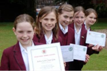 These five girls comprised the two teams that won through to the national final