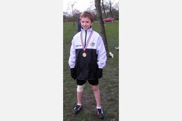 Andrew Keat was the Gold Medal Winner in the towns Year 5 and Year 6 cross country race
