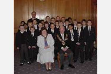 The boys are hosted by the Mayor and Mayoress of Bolton at the Town Hall