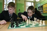 Game of Chess between two junior boys