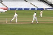 Giles Makinson playing cricket at Lords