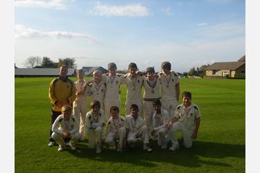 The U13s cricket team are 2011 county cup runners-up