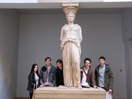Sixth formers at the British Museum