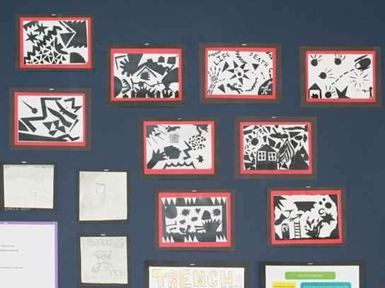 Some of the Year 6 artwork