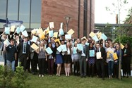 Sixth Formers with their volunteering certificates at the Celebration Evening
