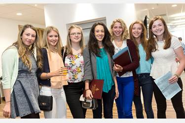 Girls celebrated excellent A level grades