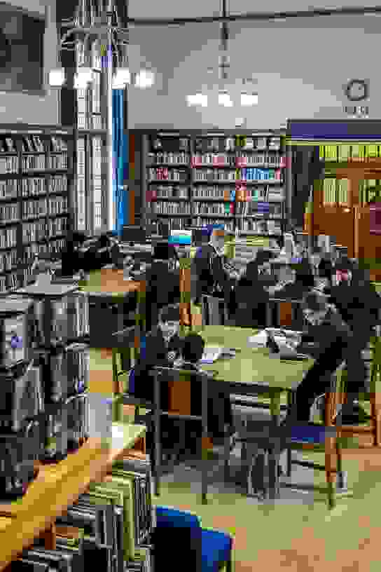 Studying in the Senior Library