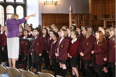 Mrs Carter and the Year 7 Choir