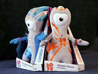 The Olympic Mascots Wenlock and Mandeville