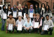Girls and boys who achieved the National Citizen Service award