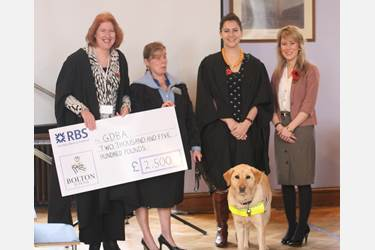 Guide Dog cheque handover