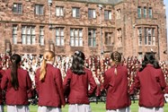 Girls gather for the Whole School Photo