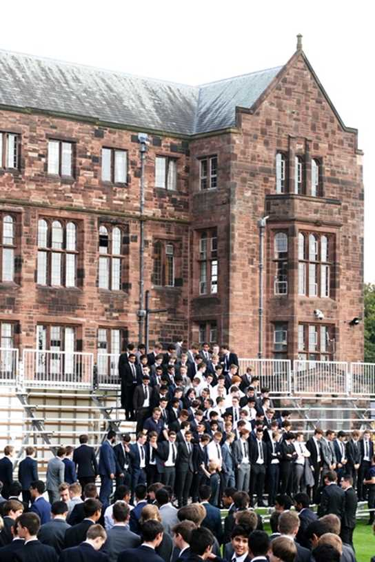 Boys gather for the Whole School Photo