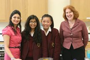 Anjali Pathak is welcomed to Bolton School