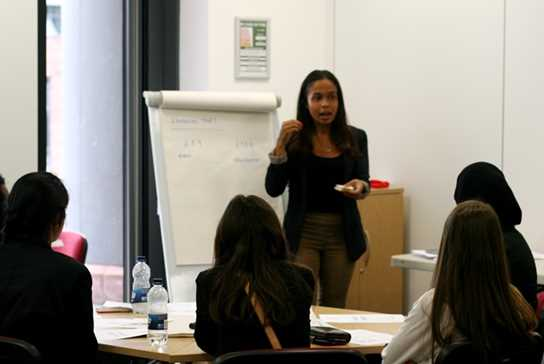 Nadia Rae talks to the girls about marketing their afternoon tea ideas