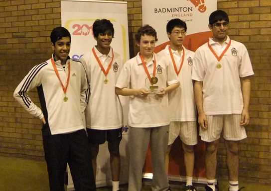 Year 10 and 11 Greater Manchester County Badminton Champions