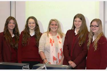 Sammie Adams-Mercer and Year 10 Girls at Bolton School