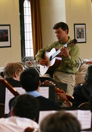 Craig Ogden guitar workshop at Bolton School
