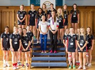 The Bolton School girls with Jenny Meadows and Helen Glover - Ellie is second from the left on the back row