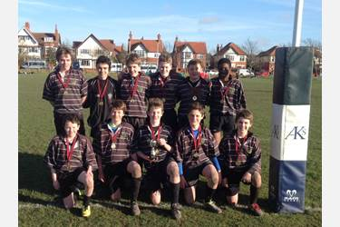 The victorious U13s 7s Rugby Team