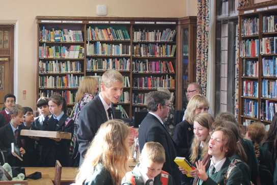 There was a great atmosphere in the Girls' Division library after the shortlist was announced