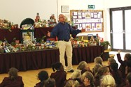 Mr Bagley spoke to the girls about the importance of sharing