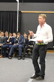 John Roberts kindly gave his time to speak to the Sixth Form Boys