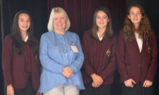 Lynne with some of the girls who attended the PSE session