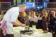 Mike demonstrates the starter in front of a rapt audience