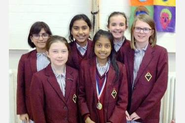 The Junior Girls' Chess Team