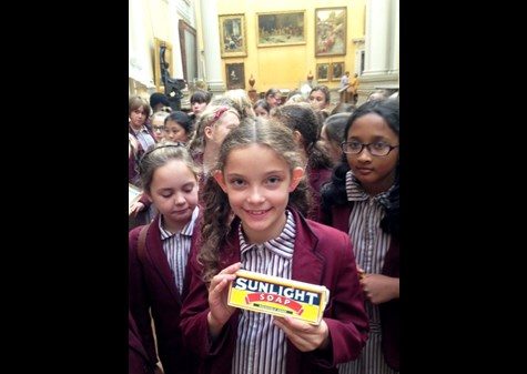 Learning more about Sunlight Soap in the Lady Lever Art Gallery