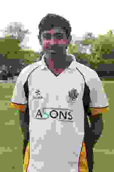 Haseeb wearing his Bolton School cricket kit