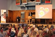 Chris Scholey spoke to the girls in their morning assembly