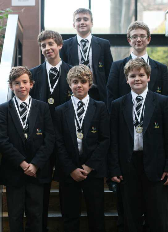 Bolton School U14 water polo team
