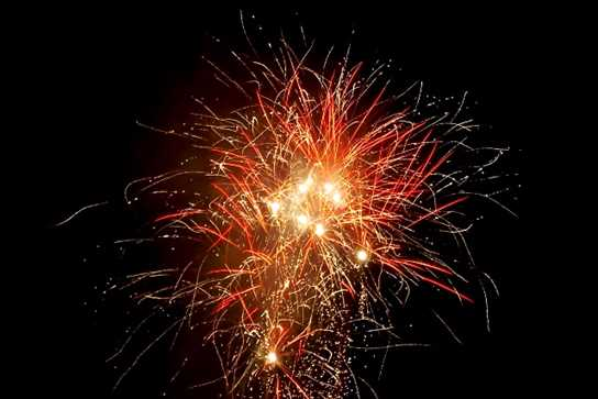 The fireworks were spectacular