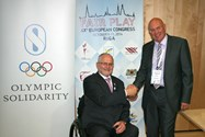 Sir Philip and Steve met up during the EFPM Congress