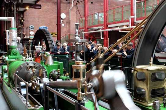 The speed of typical mill steam engine 'Elsie' was impressive