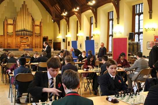 The tournament took place in the Boys' Division Great Hall