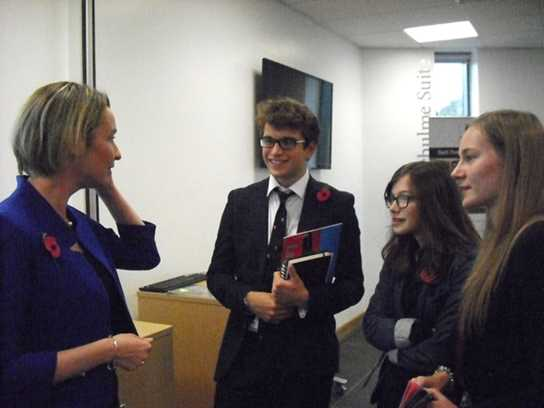 A number of students took the opportunity to speak to Andrea after her keynote speech